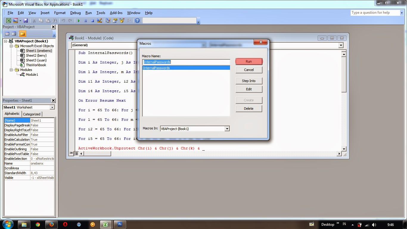 Cara Membuka Sheet Ms Office Excel Yang Di Protect