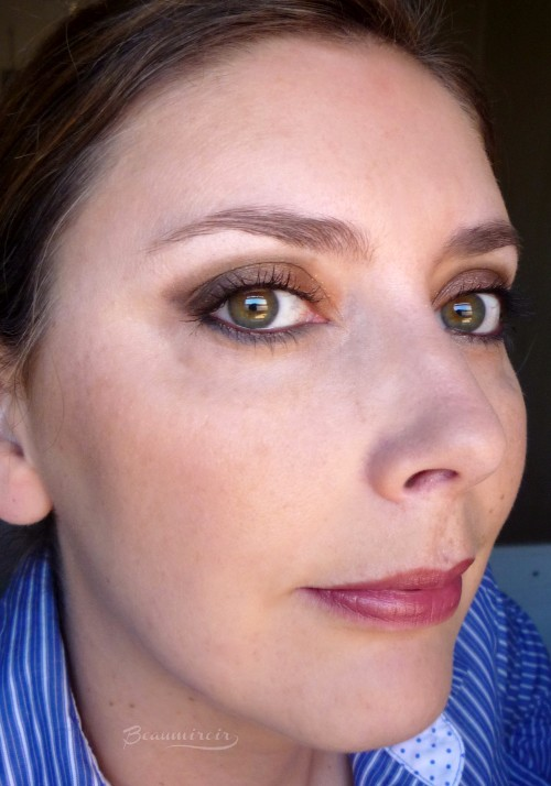 Eye look with YSL Palette in Danger Seduction fotd motd full face photo