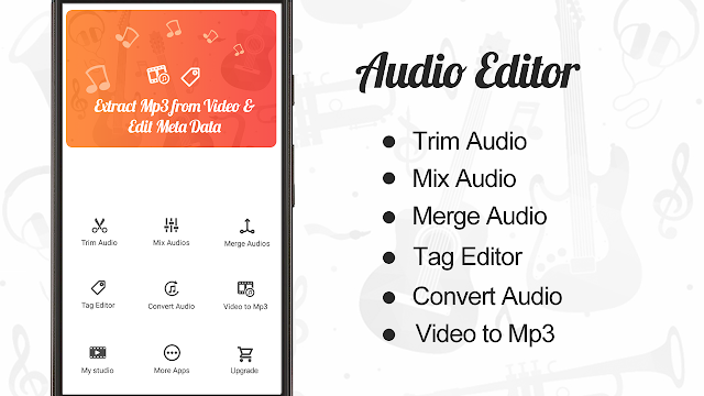 Audio Editor Cut Merge Mix Extract Convert Audio Pro APK