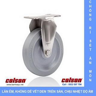 Bánh xe cao su càng bánh xe inox 304 | 2-3308SS-444 | www.banhxepu.net