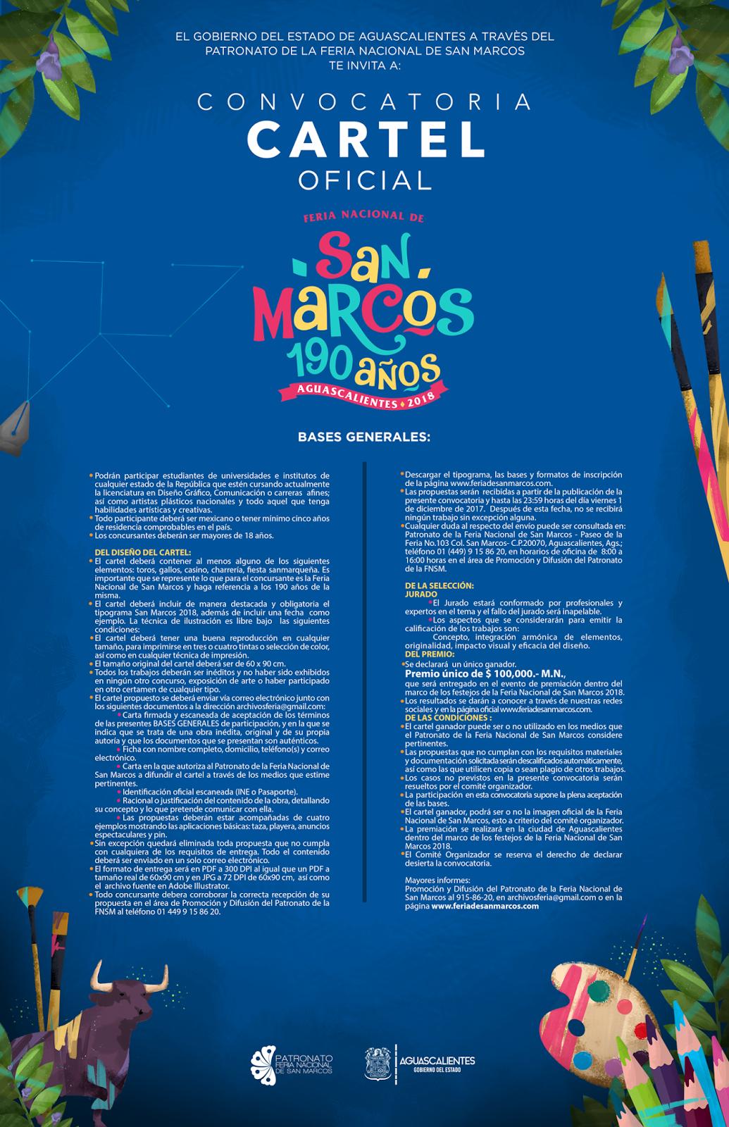 Convocatoria Diseño de Cartel Feria San Marcos 2018 - Feria San ...