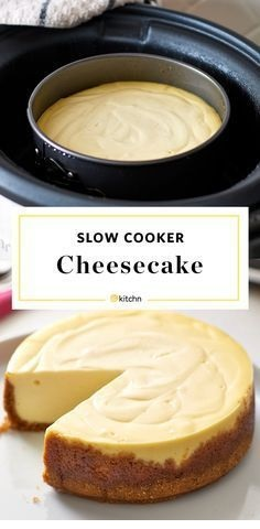 Slow Cooker Cheesecake by Martha Stewart