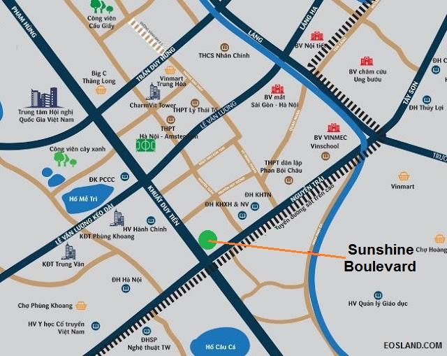Vị trí Sunshine Boulevard Khuất Duy Tiến