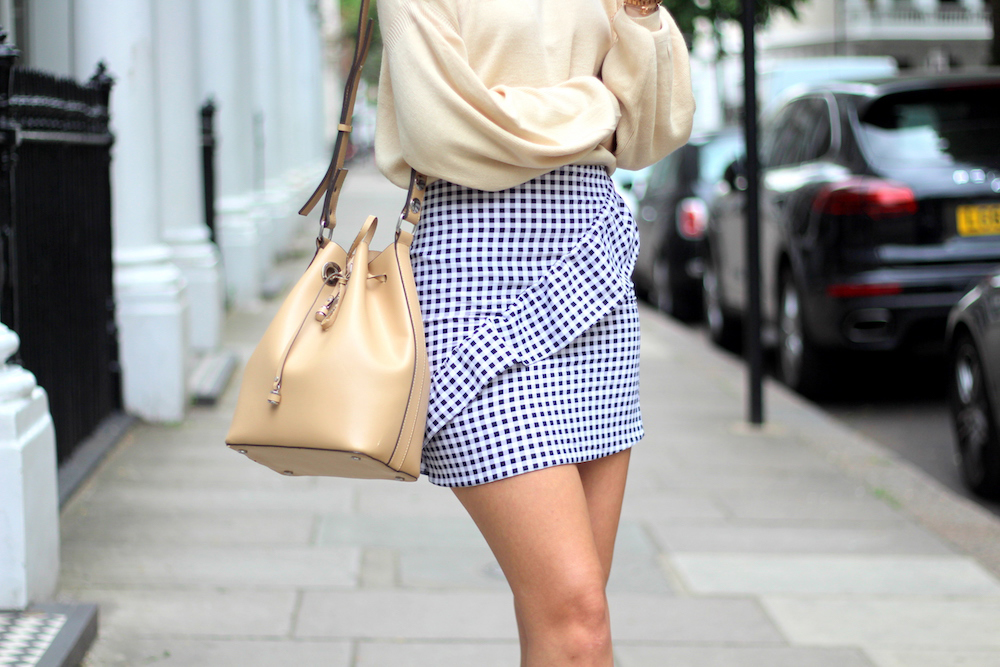 peexo london style blogger gingham mini skirt primark