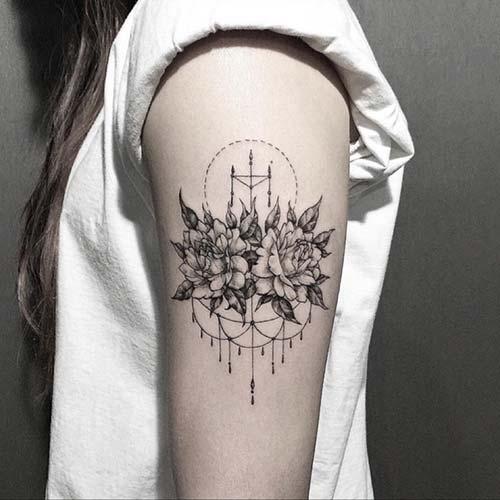 kadın üst kol dövme modelleri woman upper arm tattoos 8