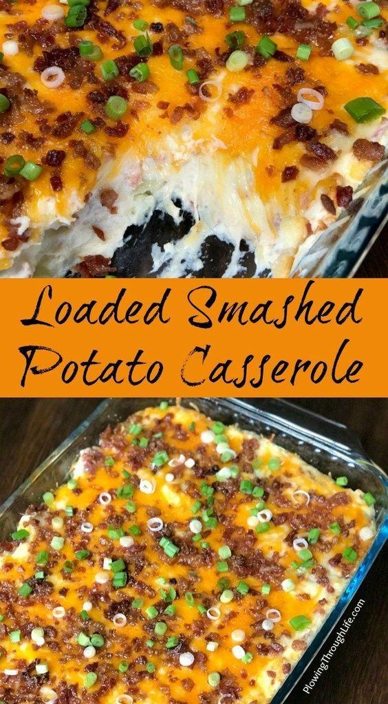 Loaded Smashed Potato Casserole Recipe