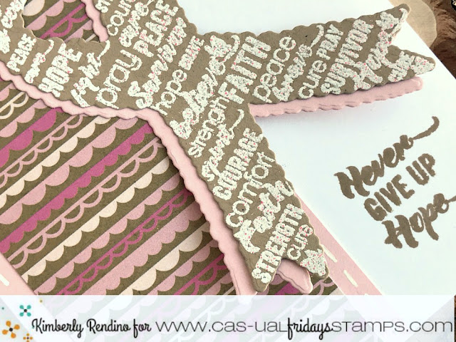 breast cancer awareness | Calling All Sistahs | Kimberly Rendino | CAS-ual Fridays Stamps | word ribbon | awareness ribbon