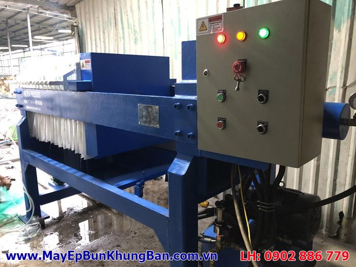 Vận hành thử nghiệm máy ép bùn khung bản Việt Nam do Vĩnh Phát chế tạo sau khi hoàn thành lắp đặt