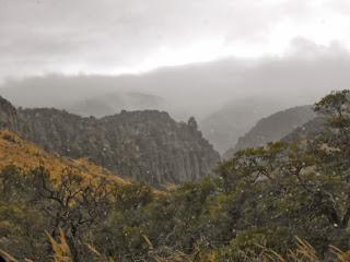 chiricahua national monument in the rain