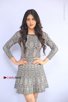 Actress Chandini Chowdary Pos in Short Dress at Howrah Bridge Movie Press Meet  0038.JPG