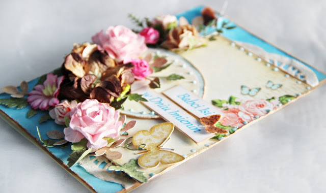 kartka urodzinowa, kartka imieninowa, kartka dla babci, kartka warstwowa