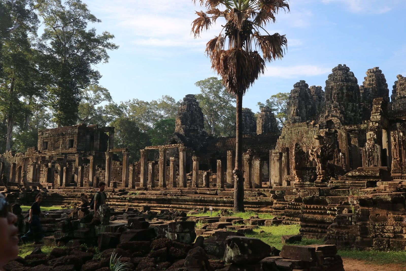 Tourists visiting Bayon Temple