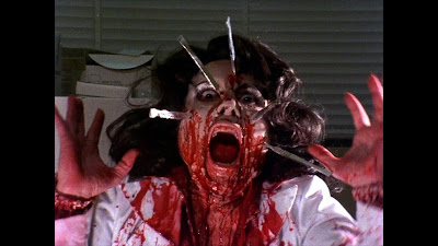 Basket Case 1982 movie still bloody vet