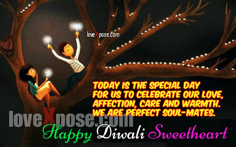 Diwali Love Romantic wishes sms Wallpaper