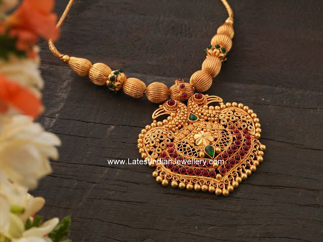 Gandaberunda Pendant Gold Necklace