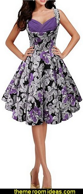 Black purple  Butterfly  Classic Serenity 50's Dress
