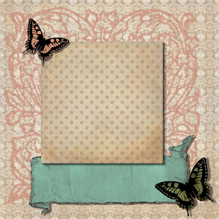 scrapbook page layout digital butterfly 12x12
