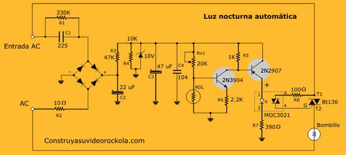 Luz Nocturna Autom 225 Tica Proyectos De Electr 243 Nica