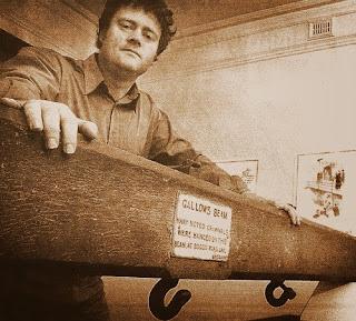Gallows beam at the Boggo Road Gaol Museum.