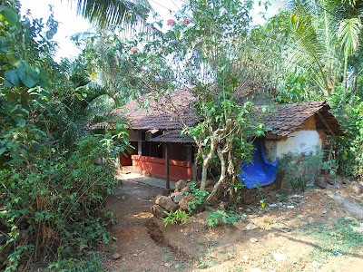 A traditional house in the village of Kannur, Kerala