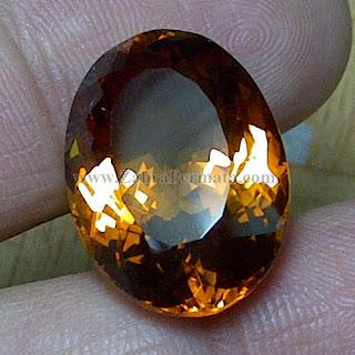 Batu Permata Madeira Citrine Quartz