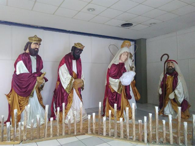 A big Nativity scene.