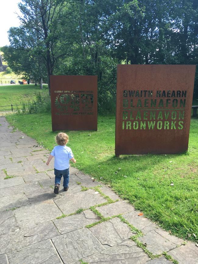 toddler-walking-towards-Blaenavon-ironworks