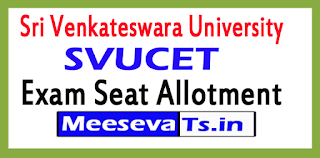 Sri Venkateswara University SVUCET Exam Seat Allotment