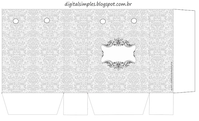 Silver Arabesques: Free Printable Boxes.