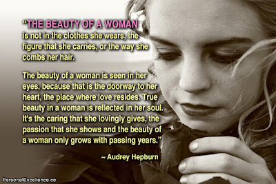 inspirational quotes  the beauty of a woman.
