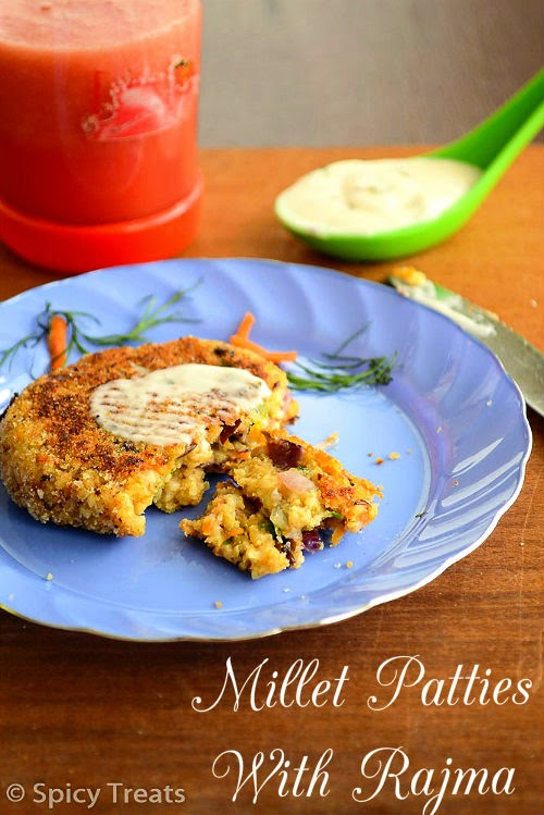 Millet Patties With Rajma