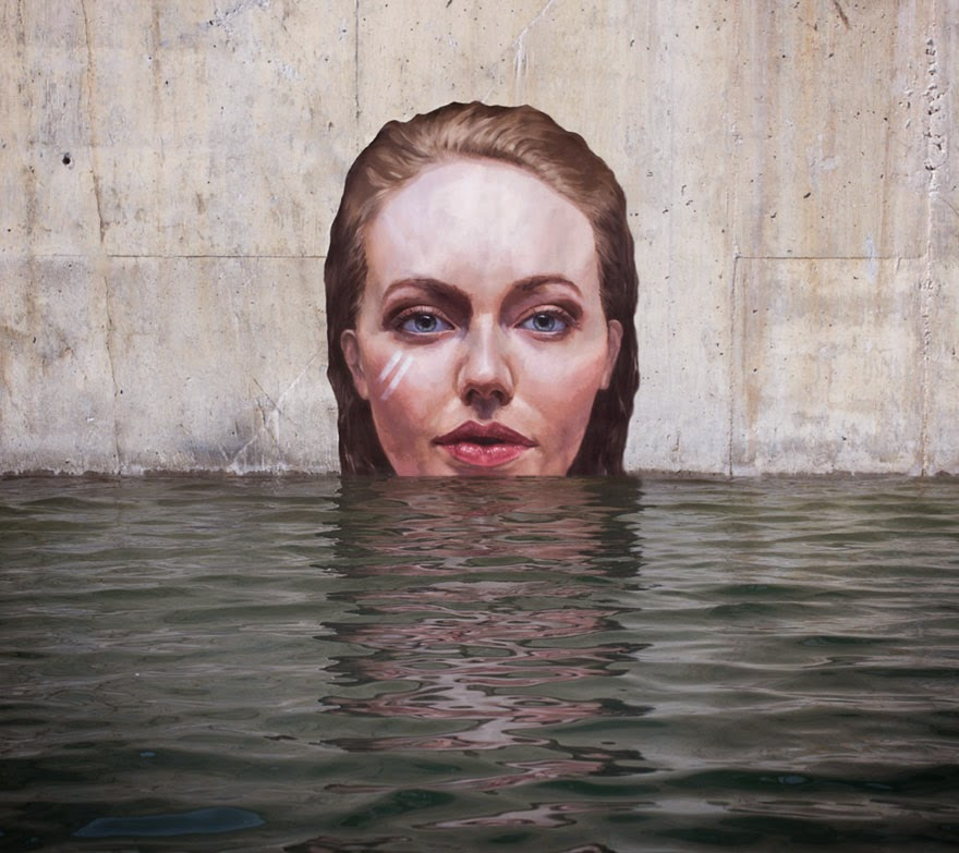 omorfos-kosmos.gr - Καλλιτέχνης ζωγραφίζει εκπληκτικές παραθαλάσσιες τοιχογραφίες