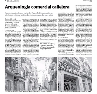 Arqueología comercial callejera, Casco Antiguo, Badajoz