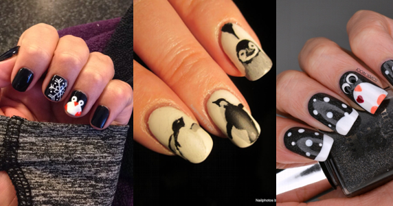 amazing penguin nail art