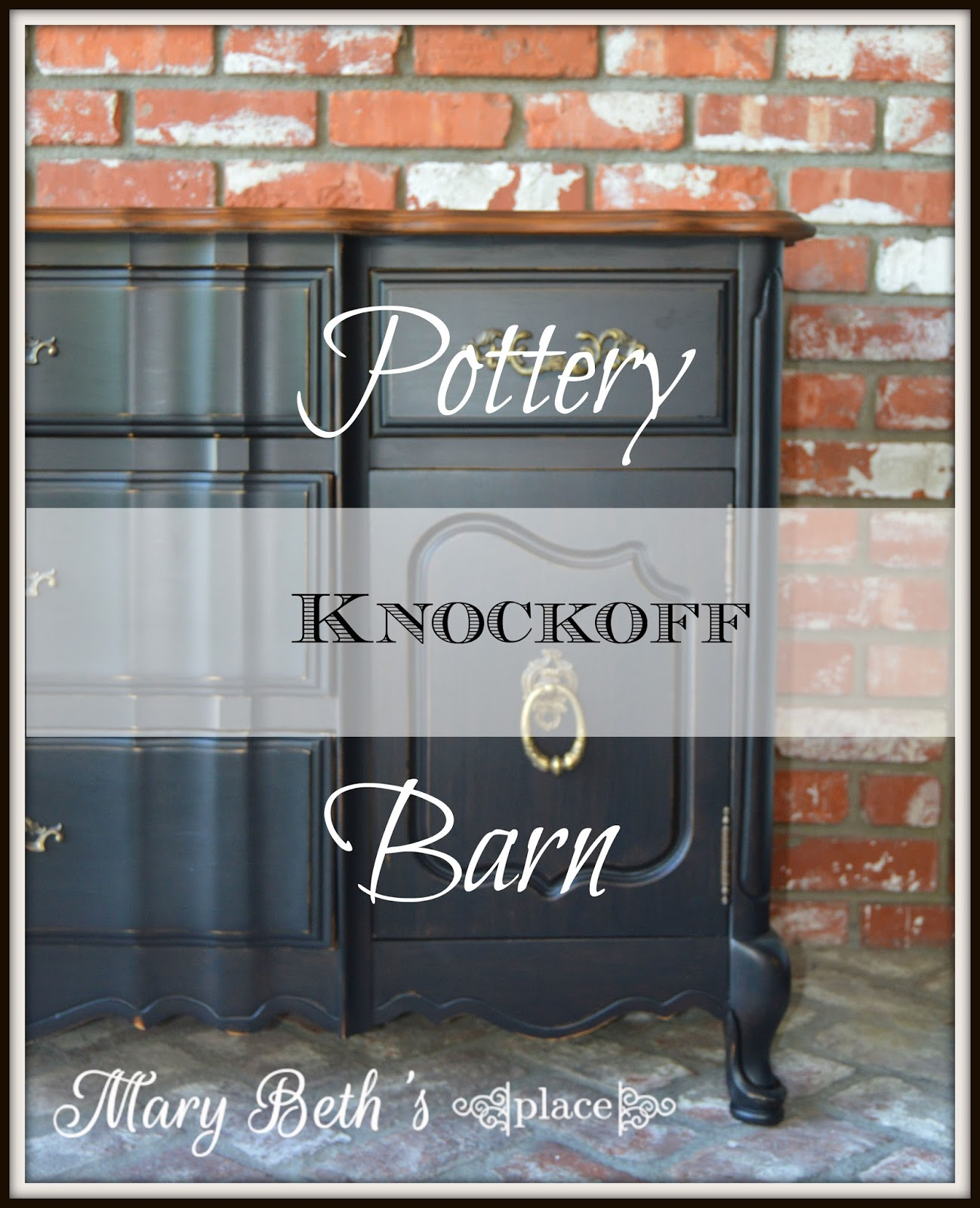 One Of My Favorite Design Looks In Furniture Is A Black Weathered Finish I Call This Pottery Barn Knockoff But It Could Just As Easily Be