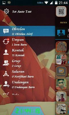 BBM Mod DroidChat Tema Transparan v2.8.0.21