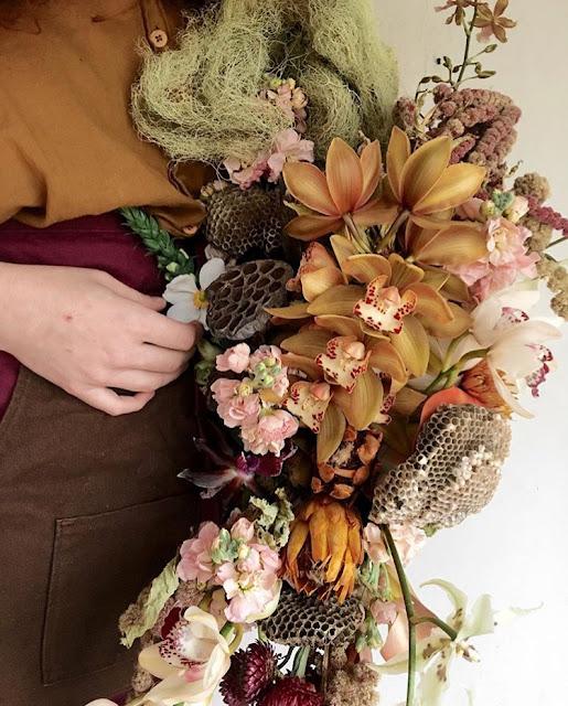 Atlanta florist, Atlanta wedding, Bloomin' Bouquets, florist, dried flowers, instillations, 2018 wedding, mixed hues, Ponderosa & Thyme, Amanda Jewel Floral + Design, wedding flowers,