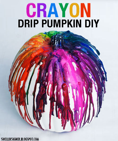 Crayon drip pumpkin