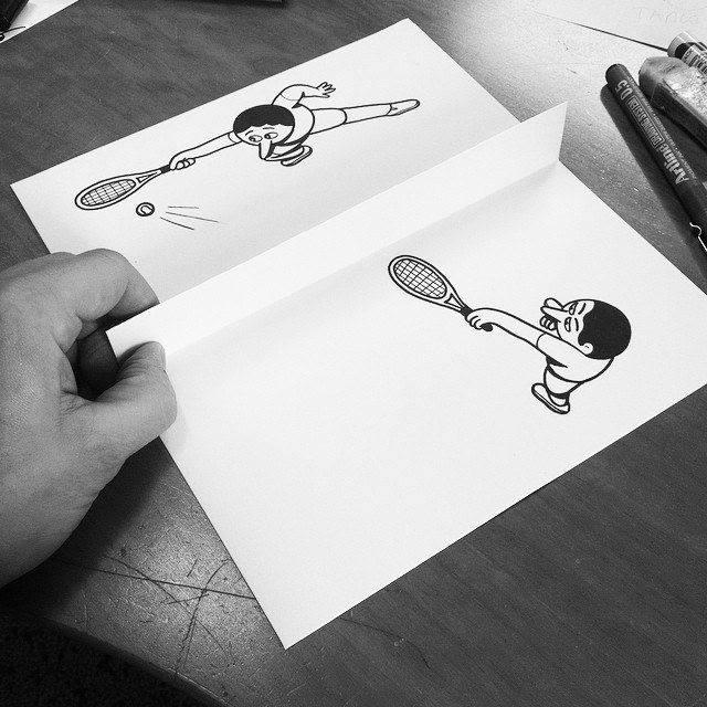 gambar kartun yang kreatif dan terlihat hidup-11