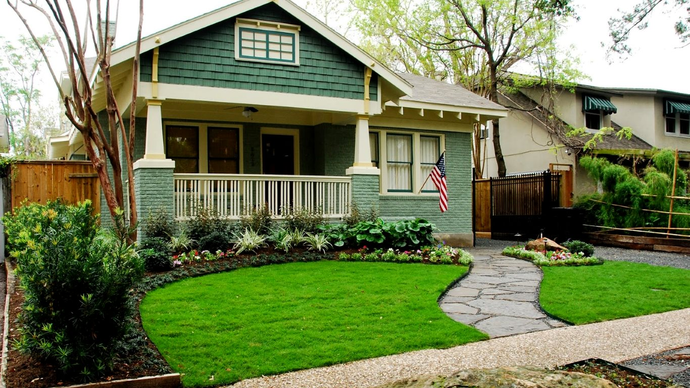 easy front yard design on a budget