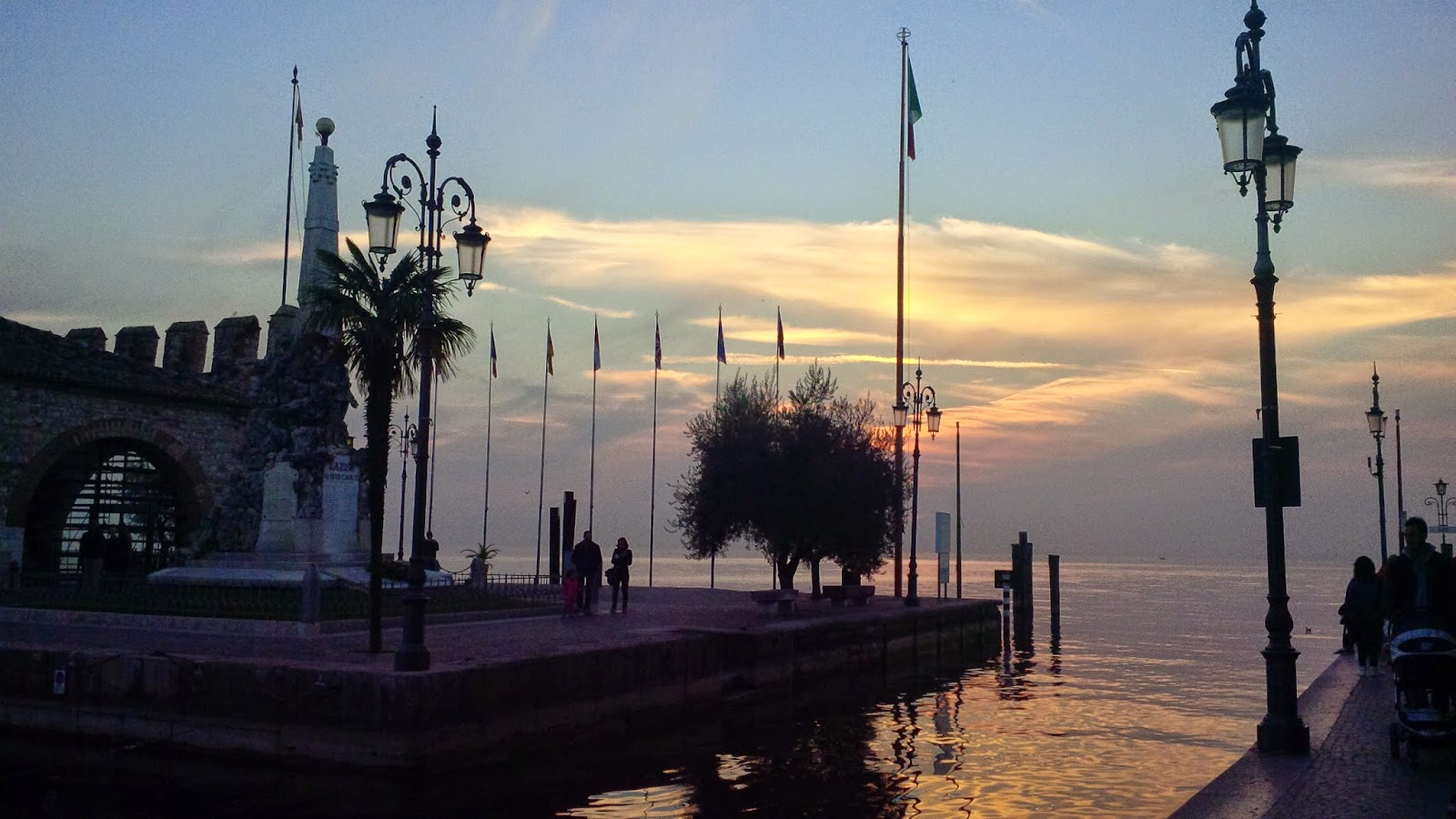 Sunset over Lazise on Lake Garda