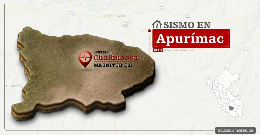 Temblor en Apurímac de 3.6 Grados (Hoy Martes 16 Mayo 2017) Sismo EPICENTRO Chalhuanca - Aymaraes - IGP - www.igp.gob.pe