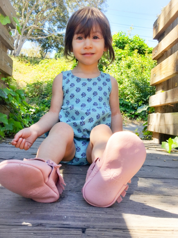 Freshly Picked moccasins in Blush