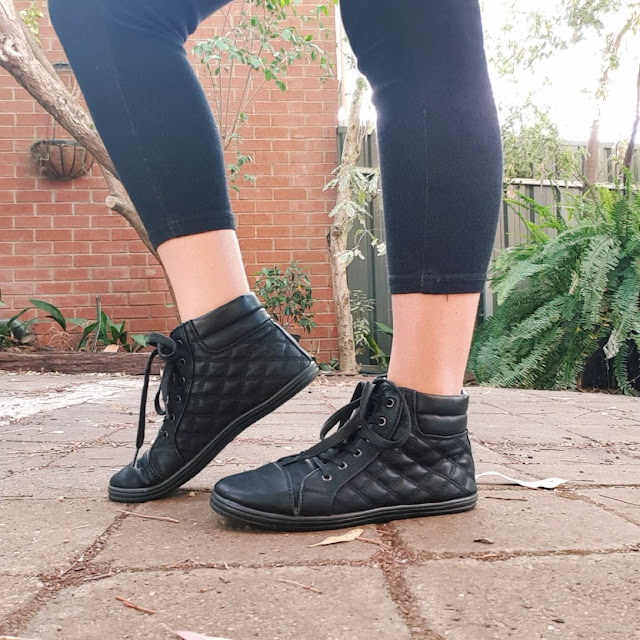 High top quilted sneakers | Almost Posh