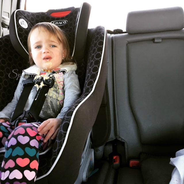 puke in the car seat