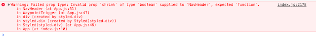 Proptype error