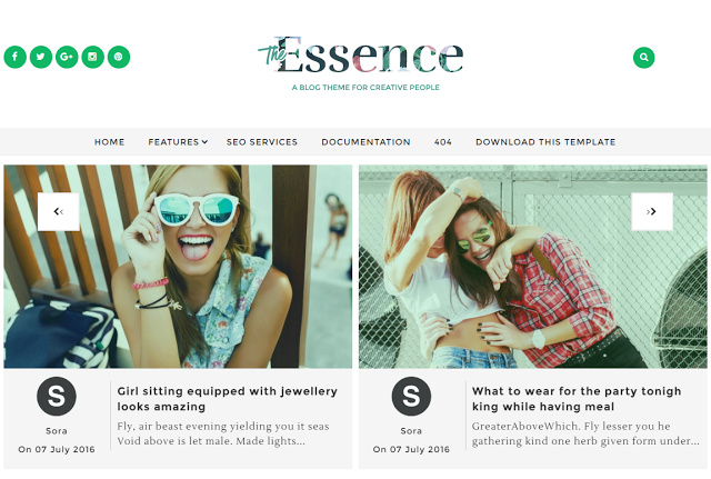 The Essence blogger theme