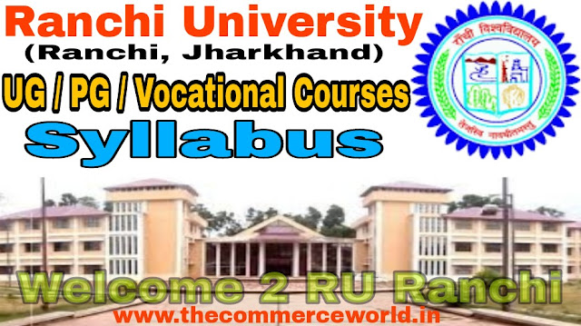 Ranchi University UG & PG & Vocational Courses CBCS Syllabus Download