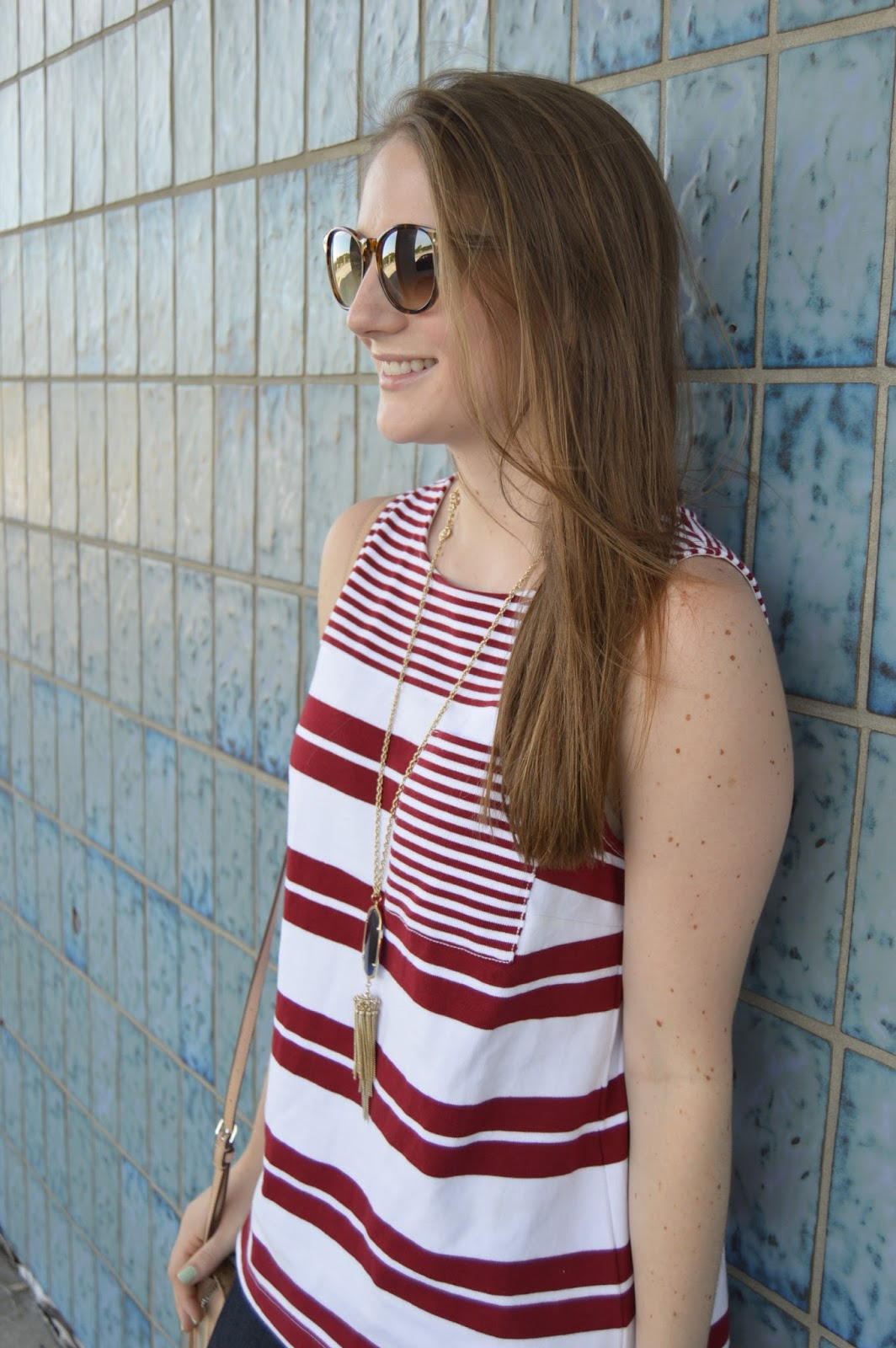 red and white striped tank top | summer lookbook | summer style | your life styled | a memory of us | cute tops for summer | what to wear this summer | red, white, and blue outfit ideas |