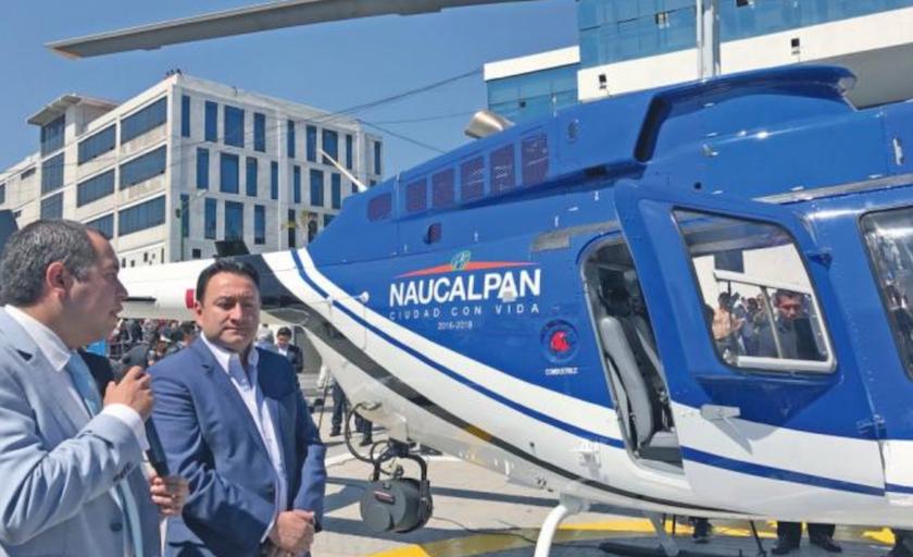 Compró Naucalpan helicóptero de 24 mdp y no tienen recursos para volarlo